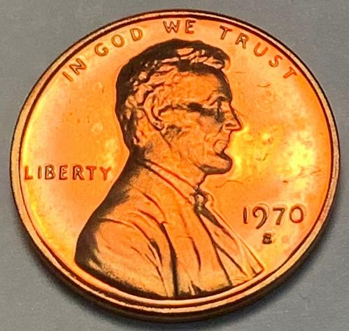 """1970-S Large Date """"Low 7"""" Proof Lincoln Memorial Cent [LC 39]"""