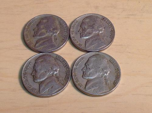 1946-47-48-49 Jefferson Nickels