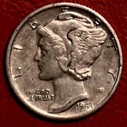 1941S Mercury Dime