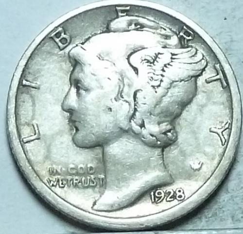 1928-D Very Fine Mercury Dime   ( 589)