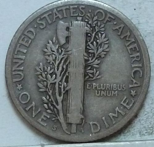 1917-S Very Fine Mercury Dime   ( 520)