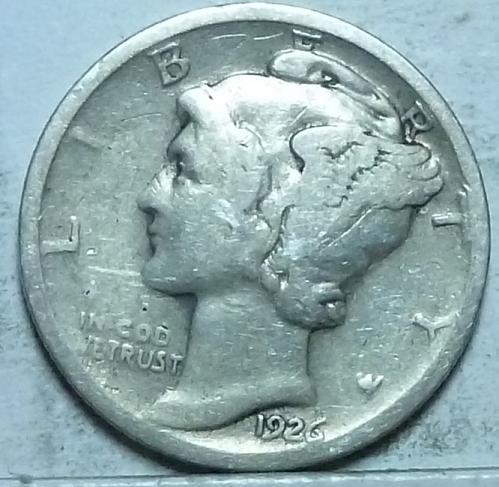 1926-D Fine Mercury Dime   (591)