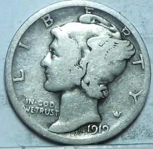 1919-D Very Good Mercury Dime   ( 608)