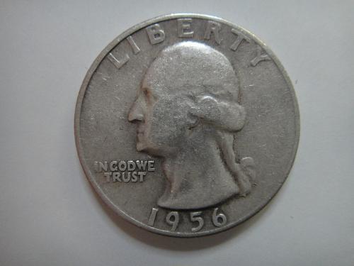 1956 TYPE B Washington Quarter Fine-12 KEY DATE of the TYPE B Quarters!