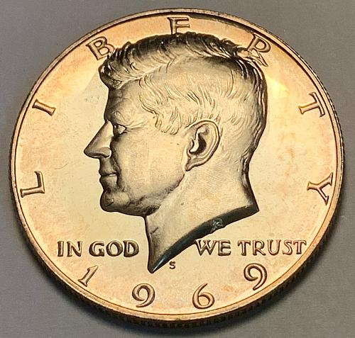 1969-S 40% Silver Proof Kennedy Half Dollar [IKS 29]