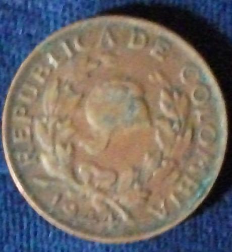 1944B Colombia 5 Centavos VF