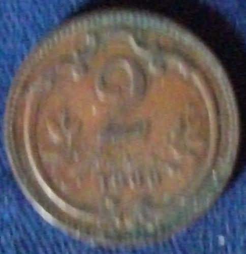 1906 Austria 2 Heller VF