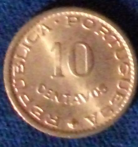 1961 Mozambique 10 Centavos UNC