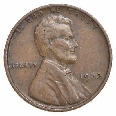 VF 1933 WHEAT CENT