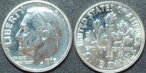1963 SILVER PROOF ROOSEVELT DIME COIN
