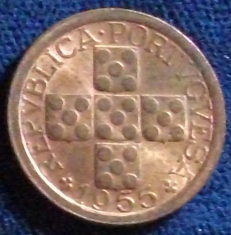 1955 Portugal 10 Centavos AU