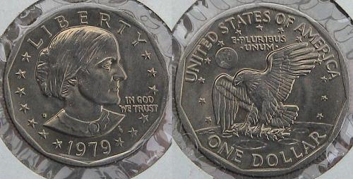 1979-D UNCIRCULATED SUSAN B. ANTHONY DOLLAR BEAUTIFUL