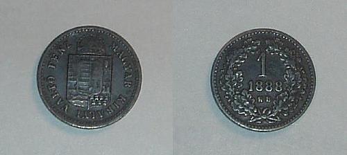 HUNGARY 1868KB 1 Krajczar coin very good/good
