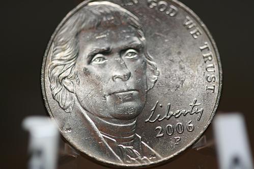 2006 P Jefferson Nickel from Mint rolls