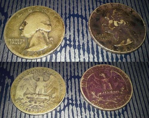 1941-S Silver Washington Quarter and 1941 Silver Washington Quarter