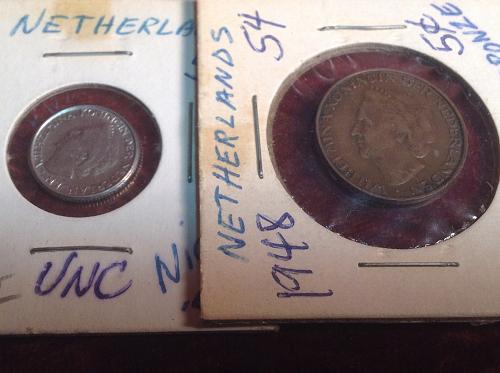 1948 Netherlands 5 & 10 Cents