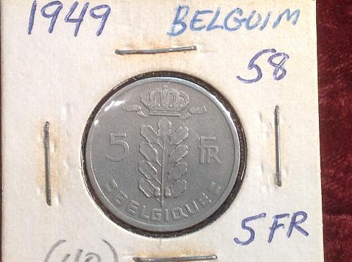1949 Belgium 5 Francs