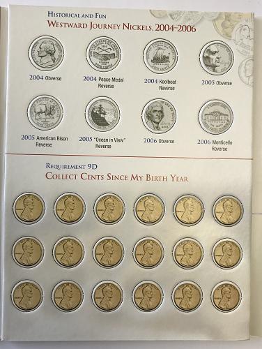 Coin Collecting Merit Badge Coin Folder