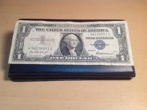 1957  Silver Certificate 1.00 dollar