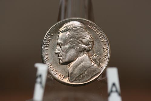 1954 S  Jefferson Nickel . HIGH MS