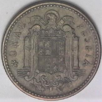 Spain 1947 Una Peseta Coin