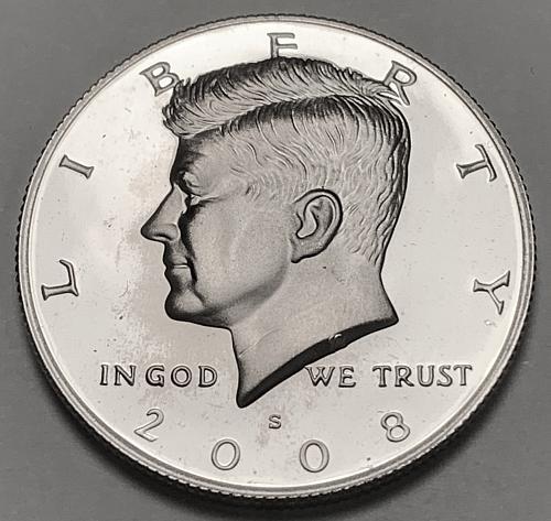2008-S Proof Kennedy Half Dollar [IKS 33]