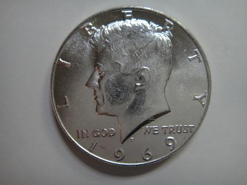 1969-D Kennedy Half Dollar MS-64 (Near Gem)
