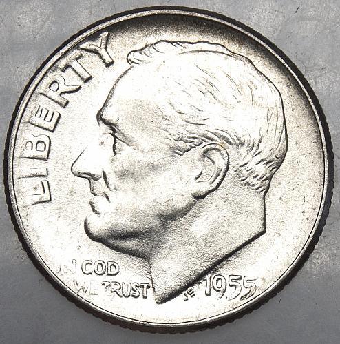 1955 P Roosevelt Dime#14
