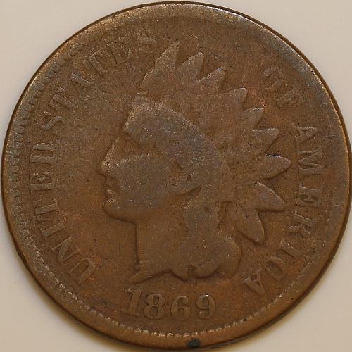 1869 Indian Head Cent - G / Good
