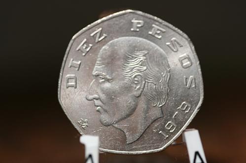 1979 Mexican  10 Pesos  Copper Nickel BU