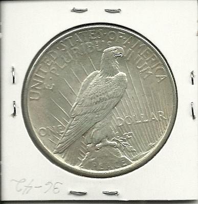 1922 P Peace Dollar ,MS 60 - 62