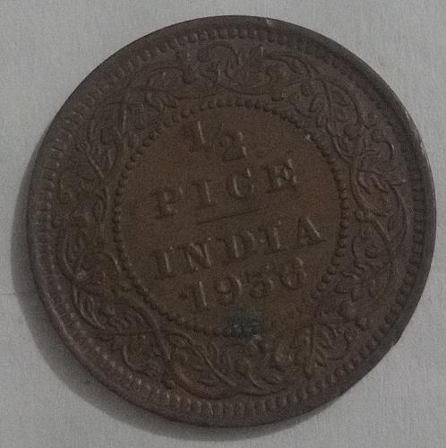 King George 5th..1936..1/2 pice circulated coin