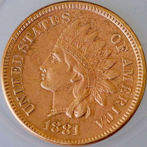 1881 Indian Head Cent - Gem BU / MS / UNC