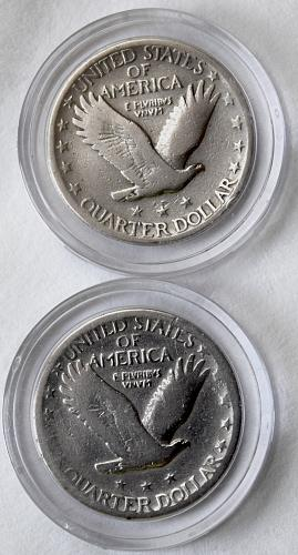1927 STANDING LIBERTY LOT OF2