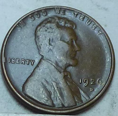 1926-D XF Lincoln Wheat cent in Extra Fine ( 2730GI)