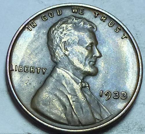 1933-P About Uncirculated Lincoln Wheat Cent (2731A)
