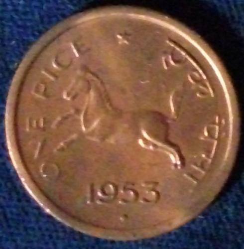 1953(B) India/Republic Pice UNC