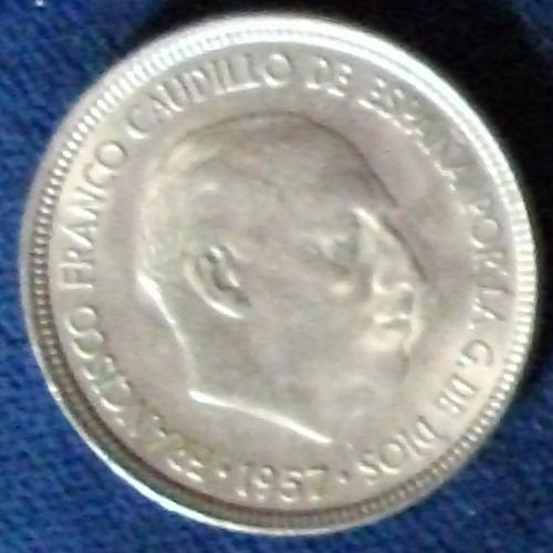 1957(63) Spain 5 Pesetas XF