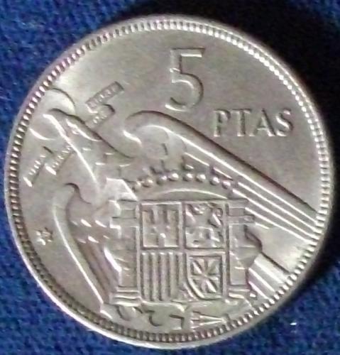1957(59) Spain 5 Pesetas XF