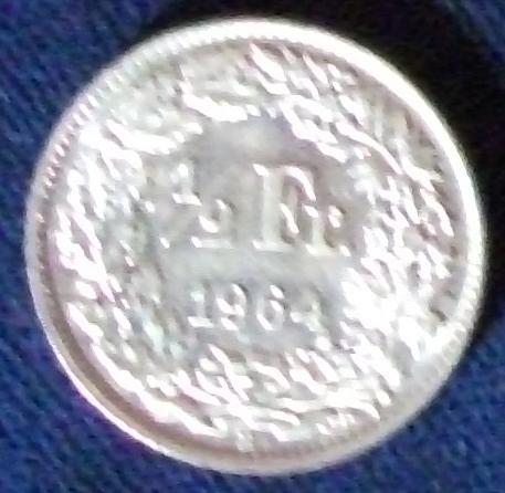 1964 Switzerland 1/2 Franc BU