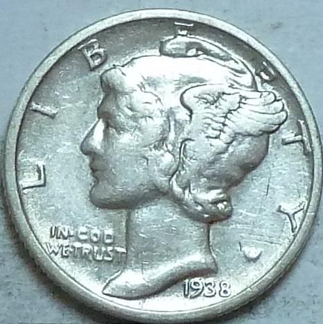 1939-P AU  Mercury Dime About Uncirculated ( 52956)