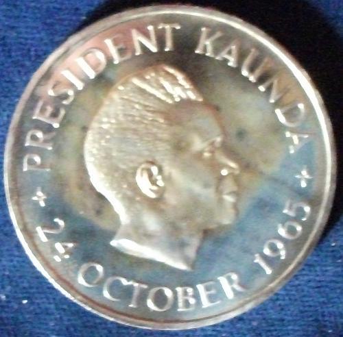 1965 Zambia 5 Shillings Proof