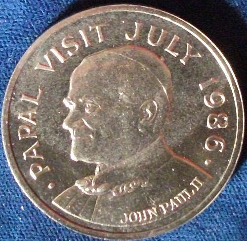 1986 Saint Lucia 5 Dollars BU