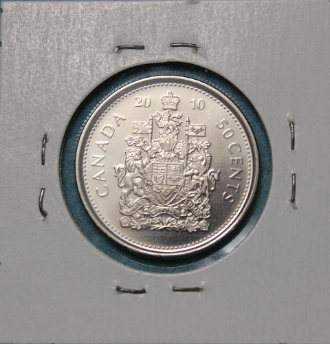 Canada 2010 50 cents