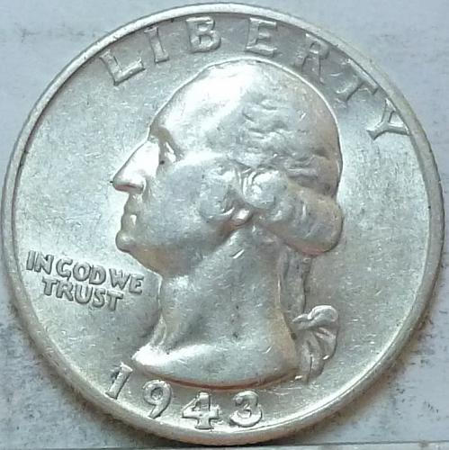 1943-S ABOUT UNCIRCULATED Washington Quarter  AU # (319)