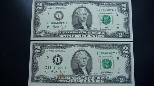 (2) 2003 Jefferson Two Dollars