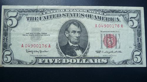 1963      $5.00  Legal Tender  Note