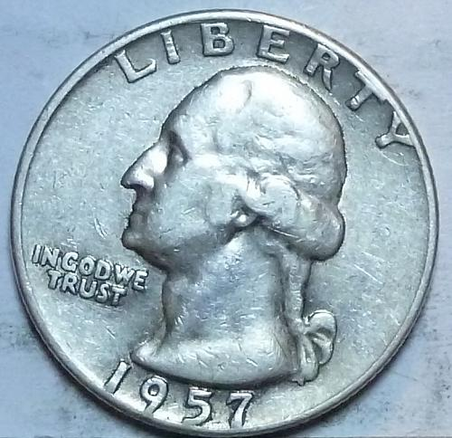 1957-D EXTRA FINE Washington Quarter XF (347)