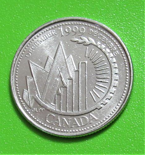1999 Canada 25 Cents - Millennium Series - December