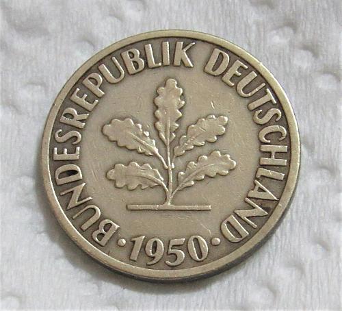 1950-F Germany 10 Pfenning